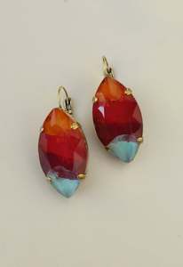 Pat Whyte Earrings Orange/Red