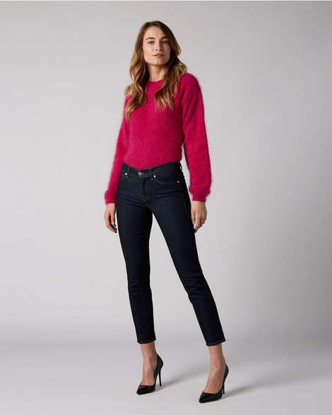 7 For All Mankind Mid Rise Roxanne Crop