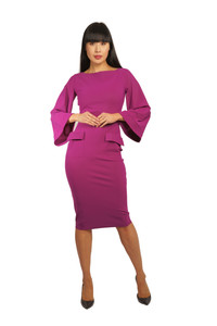 Chiara Boni Nusi Dress Fuschia
