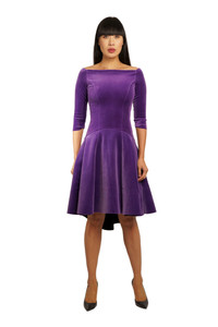 Chiara Boni Koko Velvet Purple Dress