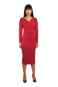 Chiara Boni Marquita Crepe Red Dress