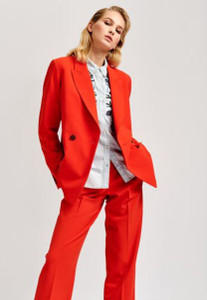 Essentiel Antwerp Temporary Structured Blazer Orange
