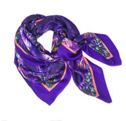 Debbie Millington Monkey Puzzle Purple Scarf