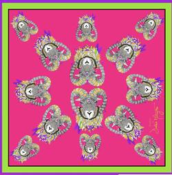 Debbie Millington Jester Pink Scarf