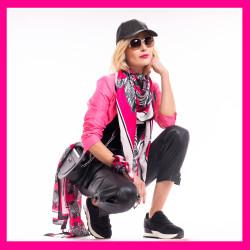 Debbie Millington Zebras Pink Scarf