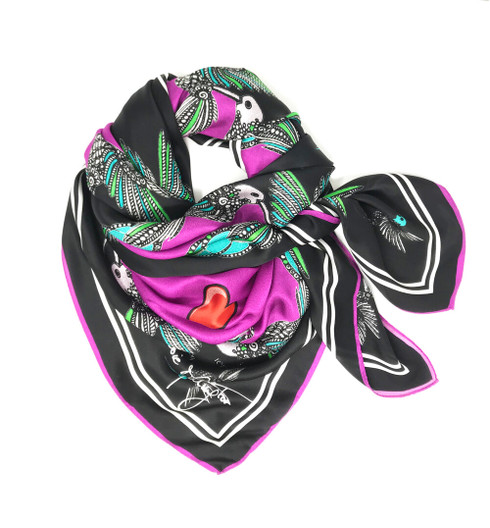Debbie Millington Kingfisher Black Scarf