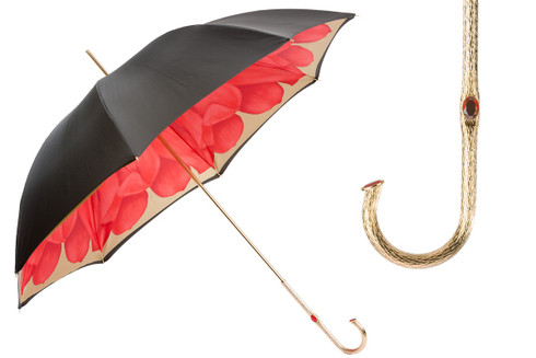 Pasotti Black and Gold Umbrella