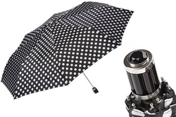 Pasotti Black Polka Dot Umbrella