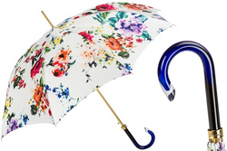 Pasotti White Floral Umbrella