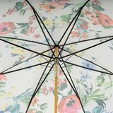 Pasotti White Floral Umbrella