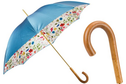 Pasotti Blue Flower Print Umbrella