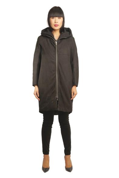 Transit  Par Such Black Leather Coat