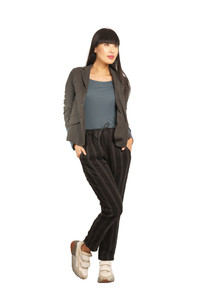 Transit Charcoal Fitted Jacket