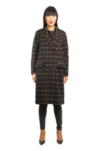 Transit Black Check Coat A100