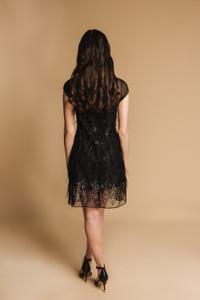 Charlotte Lucas Ava Black Feather Dress