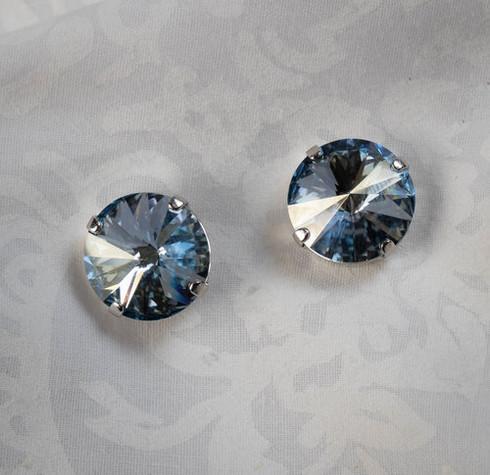 Pat Whyte Blue Rivoli Earrings
