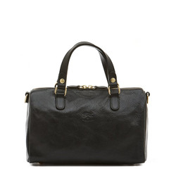Il Bisonte Black Cowhide Bowler Bag