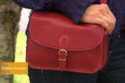 Il Bisonte Red Crossbody Bag