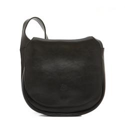 Il Bisonte Black Cowhide Crossbody Bag
