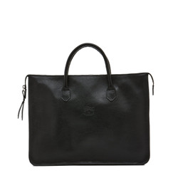 Il Bisonte Black Cowhide Briefcase
