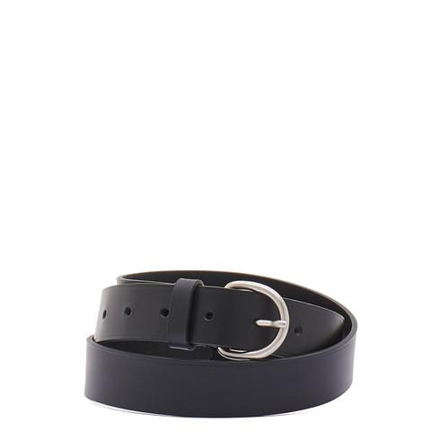 Il Bisonte Black Leather Belt