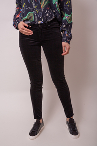 7 For All Mankind The Skinny Velvet Black Jeans