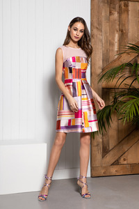 Caroline Kilkenny Lux Geometric Print Dress