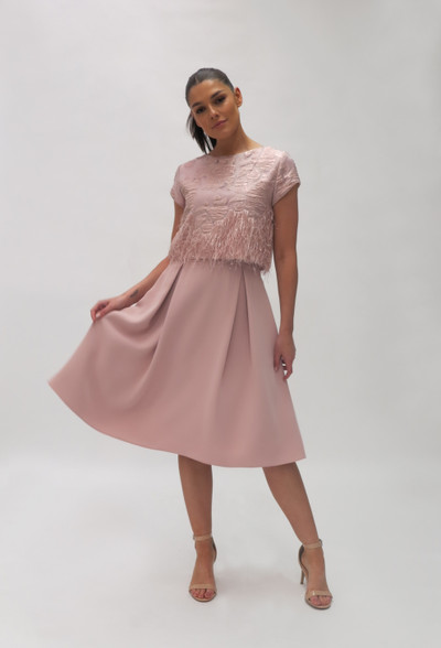 Fee G Fringe Combi Dress