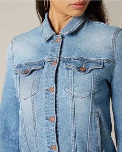 7 For All Mankind Blue Trucker Jacket
