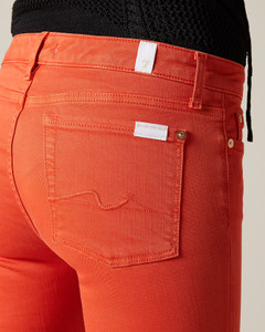 7 For All Mankind Red Pyper Crop Unrolled Jeans