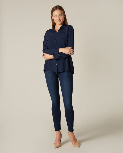 7 For All Mankind Indigo Skinny Bair Jeans