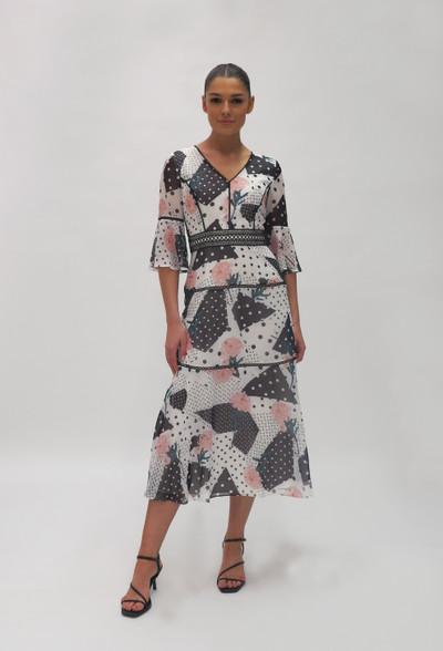 Fee G Black & white polka dot dress