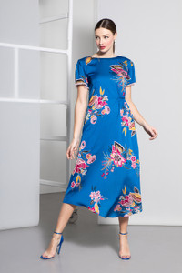 Caroline Kilkenny Blue Arcelia Dress