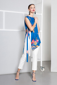 Caroline Kilkenny White Desi Trousers