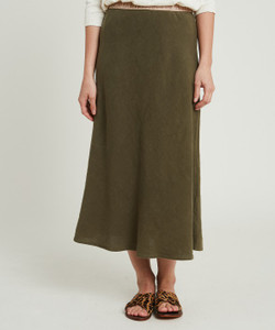 Hartford Khaki Jima Skirt