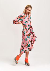 Essentiel Antwerp Pink Vayen Drape Dress