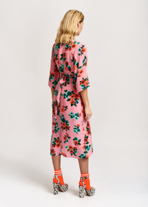 Essentiel Antwerp Pink Vayen Drape Dress