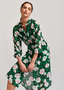 Essentiel Antwerp Green Voho Shirt Dress