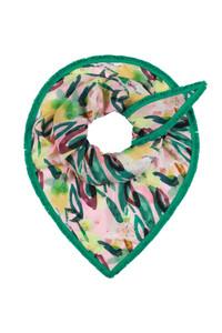 Pom Green Flower Play Cantal Scarf