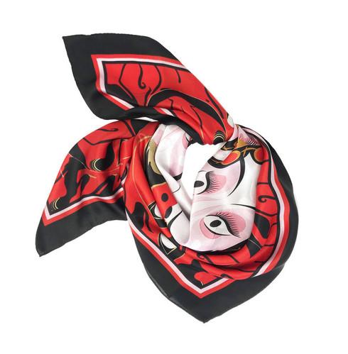 Debbie Millington Red Print Kabuki Scarf