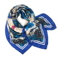 Debbie Millington Turquoise Print Venice Mask Scarf