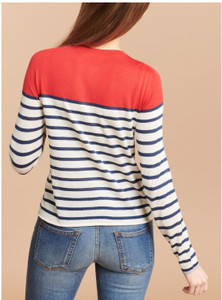 Majestic Filatures Thin Stripe Cardigan