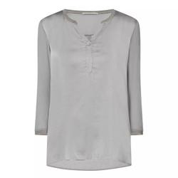 Transit Par Such Grey Silk Blouse