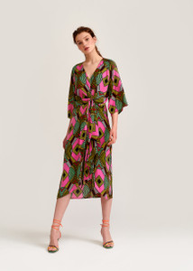 Essentiel Antwerp Multi Colored Graphic Print Dress