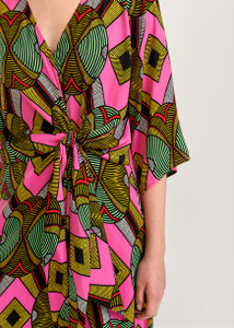 Essentiel Antwerp Multi Colored Graphic Print Dress