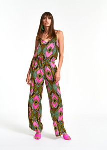 Essentiel Antwerp Multicolored Graphic-Print Jumpsuit
