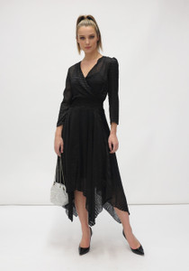 Fee G Devore Black Dress