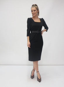 Fee G Square neck Dress Black