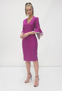 Fee G AW20 Magenta Dress with flared cuffs