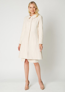 Fee G AW20 Herringbone Cream Coat | Anastasia